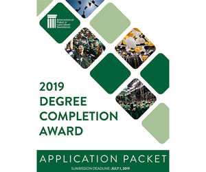 Cover for degree completion award