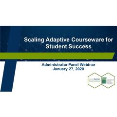 Cover slide with webinar title
