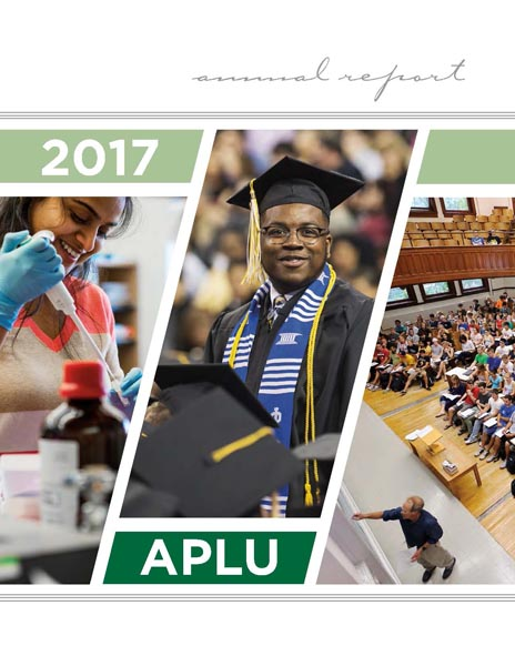 2016 APLU Annual Report Cover