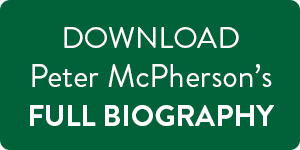 Download Peter McPherson's Full Bio